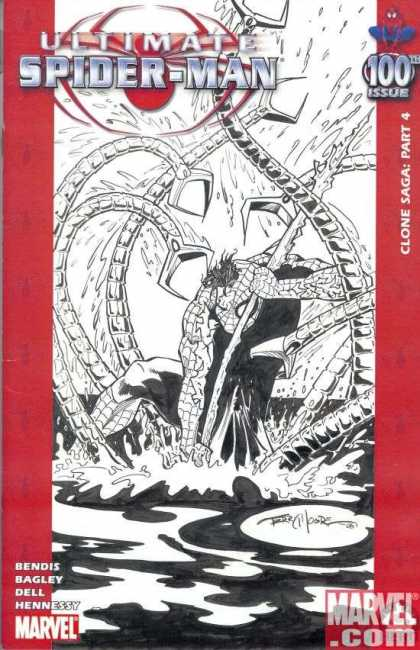 Ultimate Spider-Man 100 - Terry Moore - Marvelcom - Bagley - Clone Saga - Dell - Hennessy