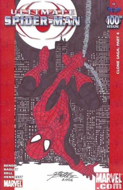 Ultimate Spider-Man 100 - George Perez - Clone Saga Part 4 - City Scape - George Perez - Bendis - Bagley