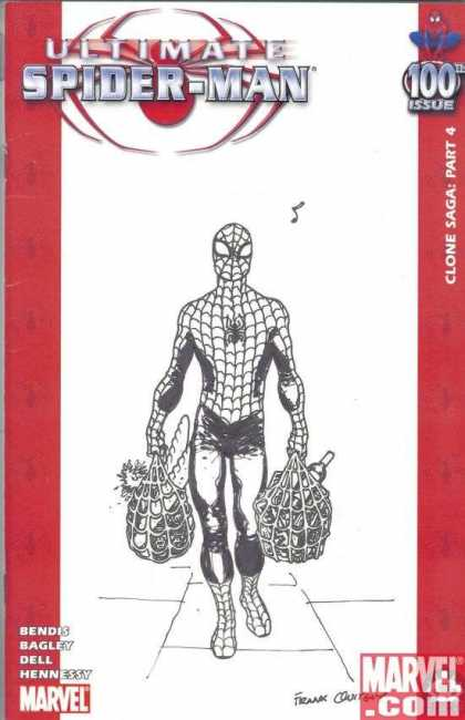 Ultimate Spider-Man 100 - Frank Quitely - Mutant - Web - Spider - Shopping - Marvel