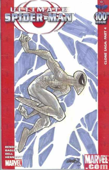 Ultimate Spider-Man 100 - Humberto Ramos - Bendes - Profile - Silver - Clone Saga - 100th Issue
