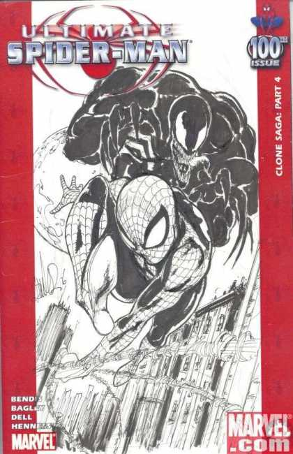 Ultimate Spider-Man 100 - Joe Benitez - Clone Sage Part 4 - Bagley - Dell - Venom - Bendis