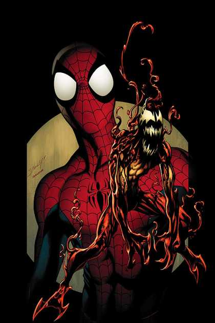 Ultimate Spider-Man 101 - Carnage - Venom - Red And Blue Costume - Fangs For Teeth - Mask Over Face - Mark Bagley, Richard Isanove