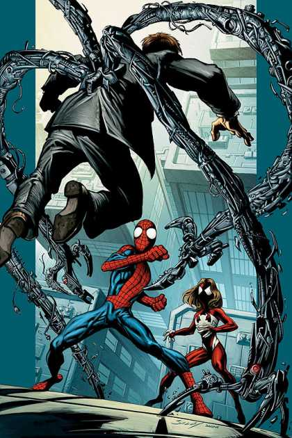 Ultimate Spider-Man 104 - Doctor Octopus - Claws - Spiderwoman - Towers - Fight - Mark Bagley, Richard Isanove