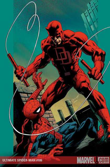 Ultimate Spider-Man 106 - Daredevil - Marvel - Roof - Superhero - Mutant - Mark Bagley, Richard Isanove