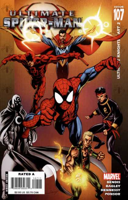 Ultimate Spider-Man 107 - Moon - Flare Circles - China Man - Flares - Spiders - Mark Bagley, Richard Isanove