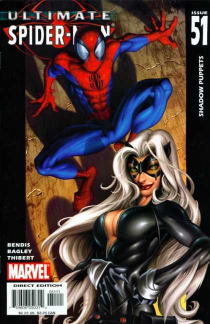 Ultimate Spider-Man 51 - Shadow Puppets - Issue 51 - Marvel - Direct Edition - Bendis Bagley Thibert - Mark Bagley