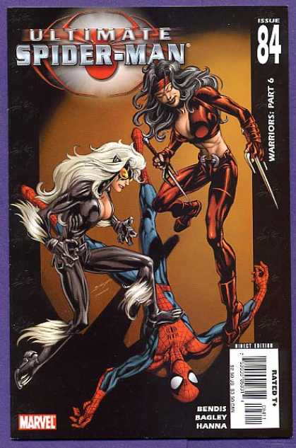 Ultimate Spider-Man 84 - Black Cat - Electra - Silver Hair - Female Warriors - Daredevil - Mark Bagley, Richard Isanove