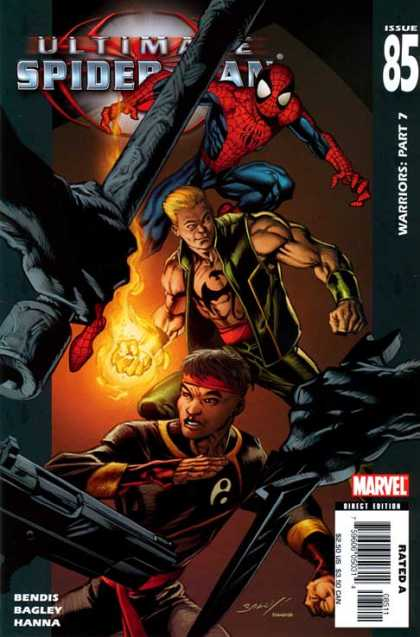 Ultimate Spider-Man 85 - Bendis - Bagley - Hanna - Warriors Part 7 - Fire Arms - Mark Bagley, Richard Isanove