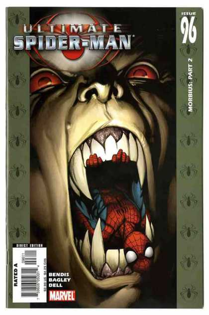 Ultimate Spider-Man 96 - Teeth - Issue 96 - Morbius Part 2 - Marvel - Bendis Bagley Dell - Mark Bagley, Richard Isanove