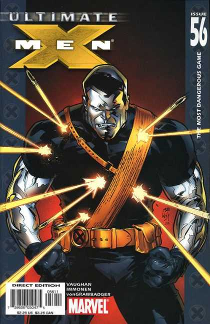 Ultimate X-Men 56 - Bullet - Marvel - Shoulder Belt - Steel - Body Armor - Stuart Immonen