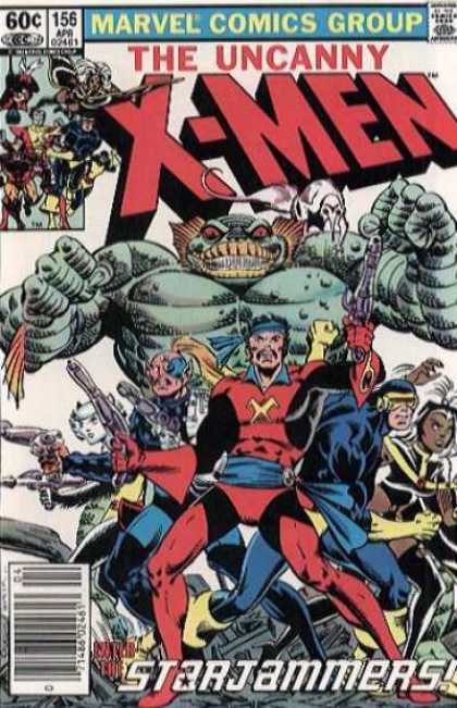 Uncanny X-Men 156 - Storm - Cyclops - The Uncanny X-men - The Starjammers - Marvel Comic Group - Bob Wiacek, Dave Cockrum