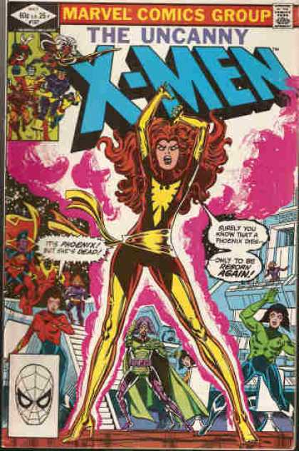 Uncanny X-Men 157 - Phoenix - Marvel Comics Group - Approved By The Comics Code Authority - Mask - Reborn Again - Bob Wiacek, Dave Cockrum