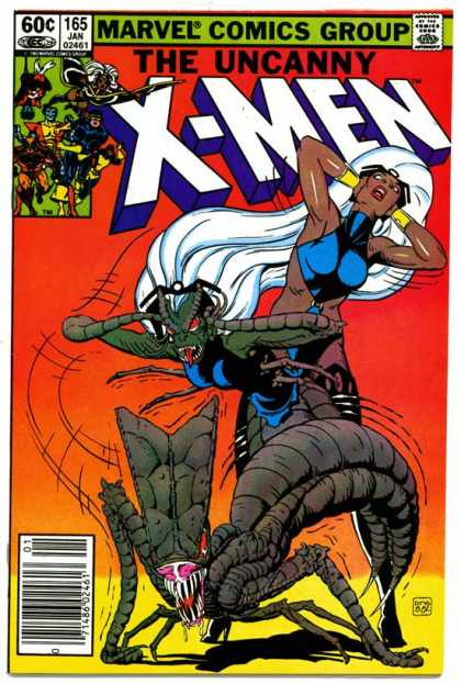 Uncanny X-Men 165 - Storm - Monster - Brood - Jean Grey - Super Hero - Paul Smith