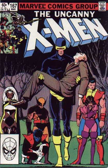 Uncanny X-Men 167 - Cyclops - Storm - Wolverine - Nightcrawler - Professor X - Paul Smith