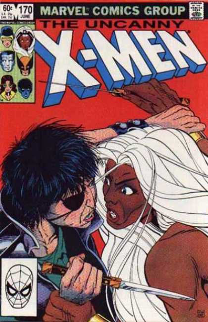 Uncanny X-Men 170 - Storm - Knife - Callisto - Eyepatch - Marvel Comics Group - Paul Smith