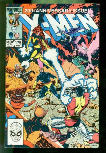 Uncanny X-Men 175 - Fight - 20th Anniversary Issue - 175 Nov - Marvel - Phoenix - Paul Smith