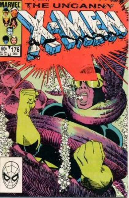 Uncanny X-Men 176 - Cyclops - Octopus - Tentacles - Water - Underwater - John Romita