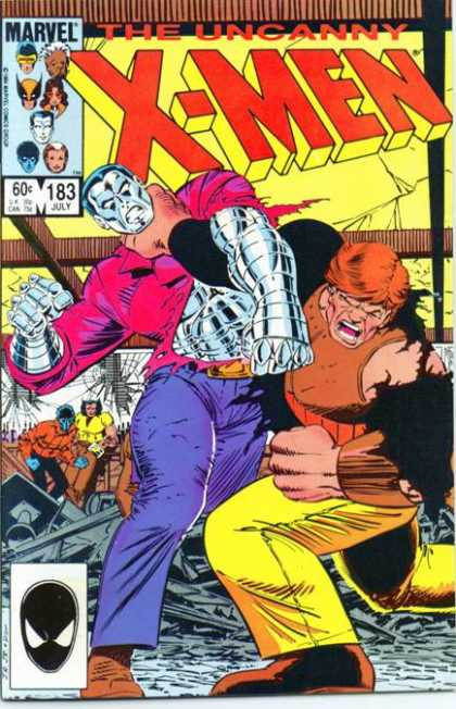Uncanny X-Men 183 - Punch - Fight - Colossus - John Romita