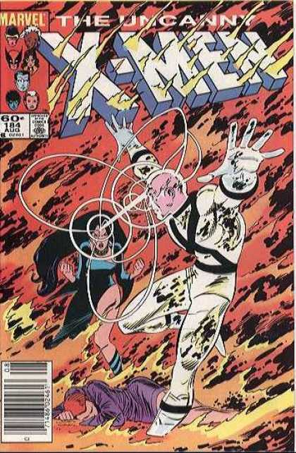 Uncanny X-Men 184 - Fire - Flame - Fight - Xavier - Professor X - John Romita