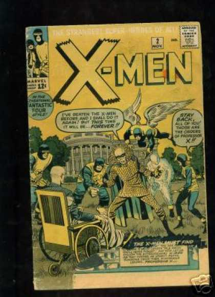 Uncanny X-Men 2 - Angel - White House - Wheelchair - Professor X - Approved By The Comics Code - Jack Kirby