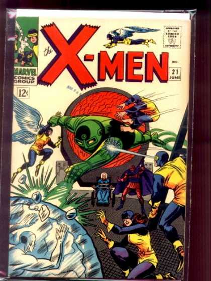 Uncanny X-Men 21 - Rocks - Marvel - Flying - Wings - Mask - Dick Ayers