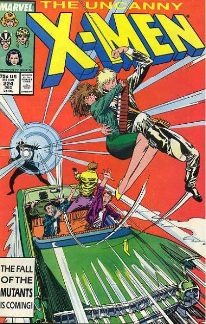 Uncanny X-Men 224 - Car - Havok - Longshot - Marvel Comics - Green Convertable Car - Marc Silvestri