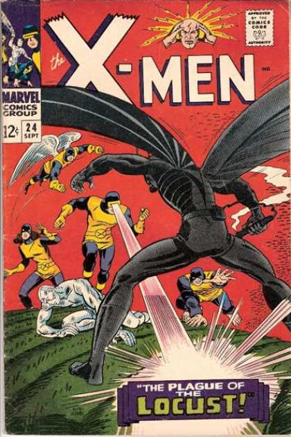 Uncanny X-Men 24 - Locust - Plage - Black - Monster - Fight - Dick Ayers