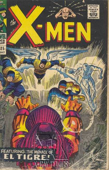 Uncanny X-Men 25 - Cyclops - Beast - Angel - Iceman - Professor X