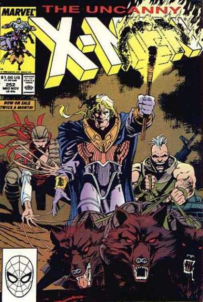 Uncanny X-Men 252 - Wolves - Lady Deathstrike - Wolverine - Torch - Bill Sienkiewicz, Jim Lee