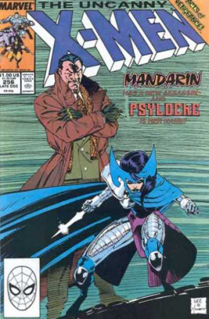 Uncanny X-Men 256 - Psylocke - Mandarin - Wolverine - Features A New Villian - Jim Lee