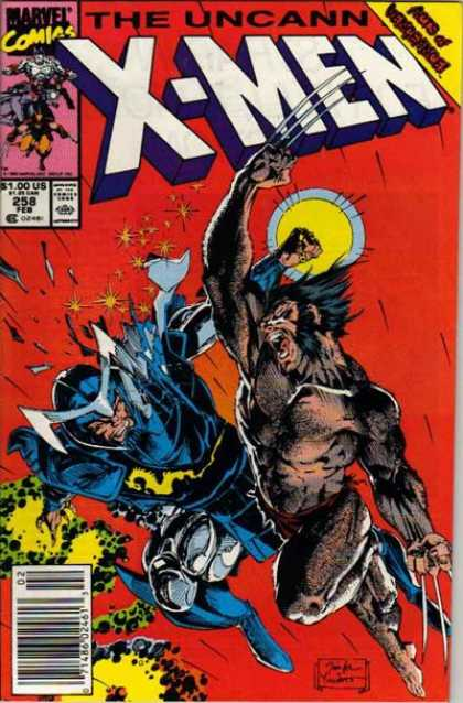 Uncanny X-Men 258 - Wolverine - Claws - Marvel - Moon - Fighting - Jim Lee, Scott Williams