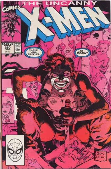 Uncanny X-Men 260 - Dazzler - Knife - Pink - Face Paint - Pictures - Jim Lee