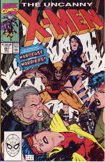 Uncanny X-Men 261 - Wolverine - Marvel Comics - Guns - Dim Lee - Hardcase - Jim Lee