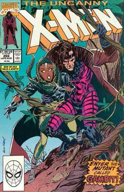 Uncanny X-Men 266 - Storm - Gambit - Marvel - Superhero - Jungle - Andy Kubert