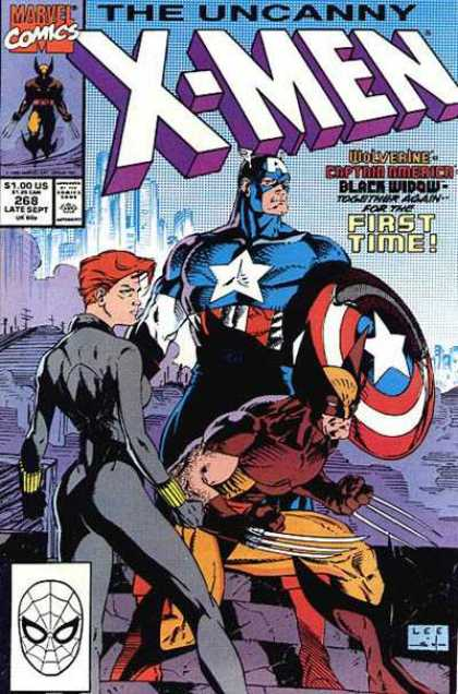 Uncanny X-Men 268 - Black Widow - Captain America - Wolverine - First Time - Captain Maverick - Jim Lee