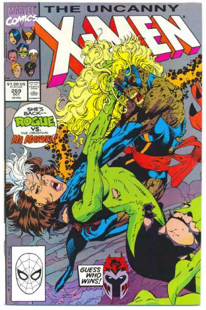 Uncanny X-Men 269 - Rogue - Magneto - Jim Lee