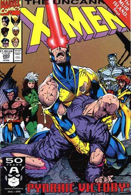 Uncanny X-Men 280 - Cyclops - Rogue - Wolverine - Xavier - Jean Grey - Jim Lee
