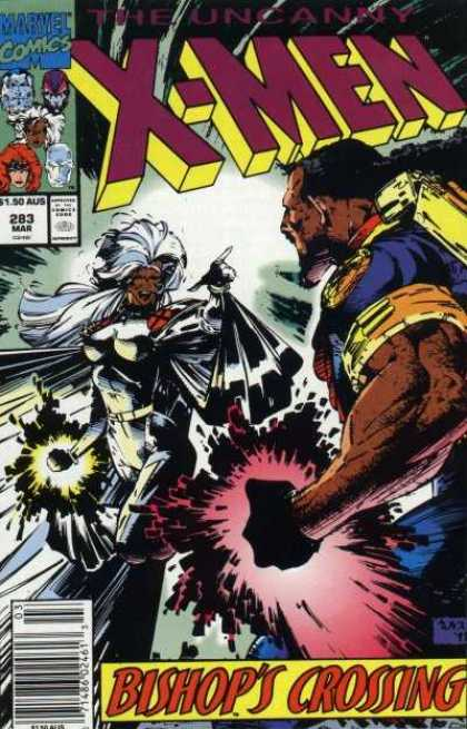 Uncanny X-Men 283 - Storm - Bishop - Marvel Comics - 150 Aus - 283 Mar - Whilce Portacio