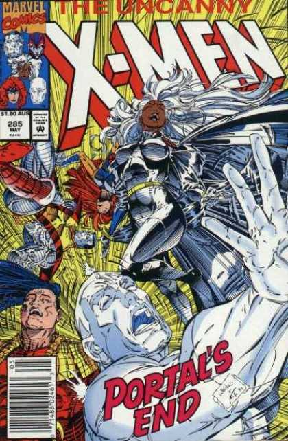 Uncanny X-Men 285 - Iceman - Storm - Portals End - Portal - Colossus - Whilce Portacio