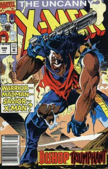 Uncanny X-Men 288 - Warrior - Savior - Madman - Bishop - Marvel - Andy Kubert