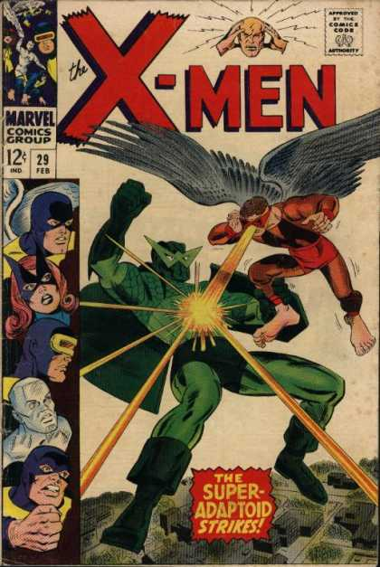 Uncanny X-Men 29 - Cyclops - Adaptoid - Iceman - Marvel - The Super-adaptoid Strikes