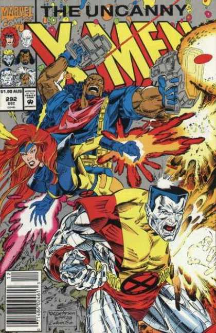 Uncanny X-Men 292 - Bishop - Colossus - Jean Grey - Guns - Marvel - Brandon Peterson