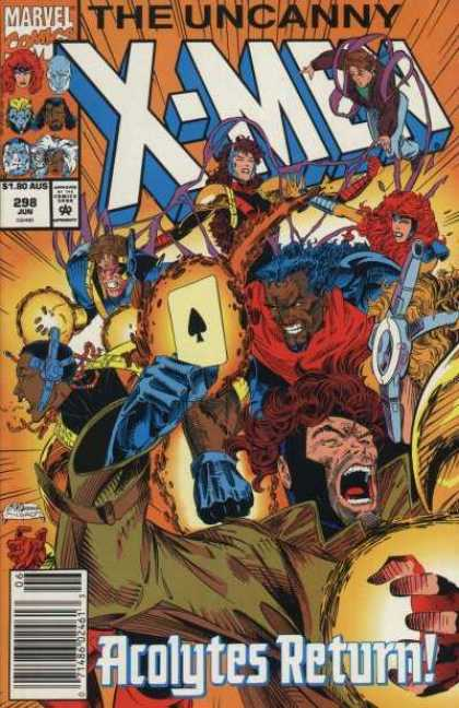 Uncanny X-Men 298 - Gambit - Card - X-men - The Uncanny - Marvel Comics - Brandon Peterson