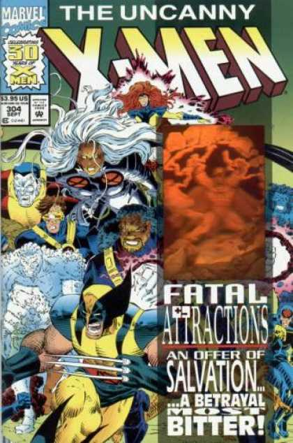 Uncanny X-Men 304 - Wolverine - Storm - Marvel - The Uncanny X-men - Fatal Attractions - Dan Panosian, John Romita