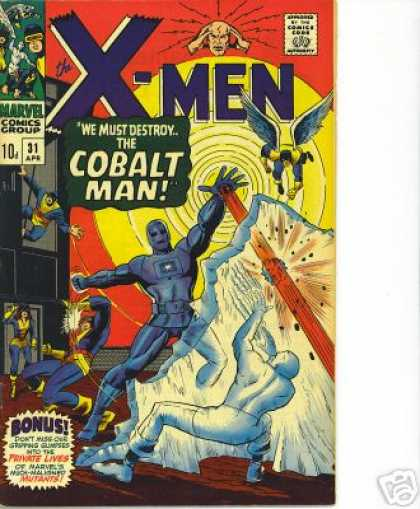 Uncanny X-Men 31 - Cobalt Man - Angel - Cyclops - Ray