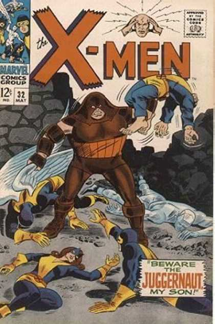 Uncanny X-Men 32 - Juggernaut - My Son - Cyclops - Beast - Marvel