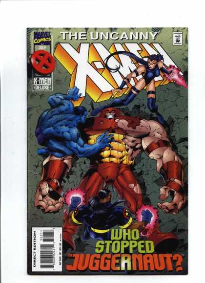 Uncanny X-Men 322 - Juggernaut - Psylocke - Beast - Bishop - Joe Madureira
