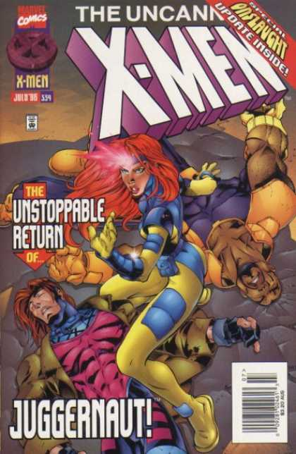 Uncanny X-Men 334 - Juggernaut - Jean Grey - Bishop - Gambit - Joe Madureira