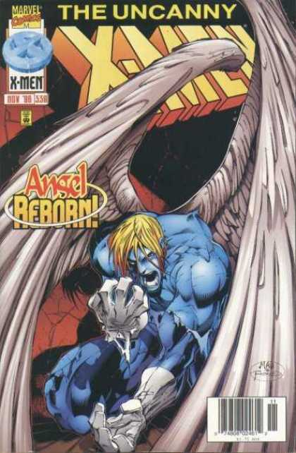 Uncanny X-Men 338 - Angel - Reborn - Marvel - Blue - Fists - Joe Madureira