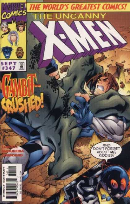 Uncanny X-Men 347 - Gambit - Marvel Comics - Gambit Crushed - The Worlds Greatest Comics - Dont Forget About Me - Joe Madureira
